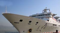 远望6号船完成海上综合测试 顺利靠回母港