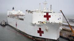 """【全球战""""疫""""进行时】 美海军""""安慰""""号医院船一名船员确诊"""