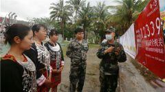 武警儋州支队官兵深入驻地村庄 宣讲国家安全知识