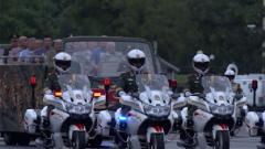 45车护卫队型 国宾护卫队以最高规格护卫表白民族英雄