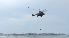 陆军第73集团军某旅:海上搜救演练 提高陆航部队全域救援能力