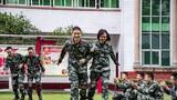 心理服務小分隊與官兵開展心理解壓小游戲