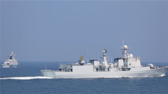 海軍某驅逐艦支隊開展多課目海上實戰化訓練
