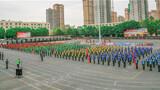 """5月6至8日,武警新疆总队某支队展开了""""利剑·2020""""群众性大练兵暨创(破)纪录比武竞赛拉开帷幕。图为比武开幕式现场。"""