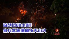 【第一军视】奋战80小时,官兵紧急增援灭山火