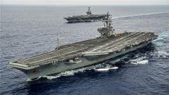 """杜文龙:""""里根""""号""""尼米兹""""号相继出海 美军发出可以实战的信号"""