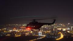 【第一军视】多型直升机跨昼夜出航 驾驶舱视角俯瞰城市夜景