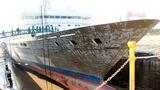 远望6号船进行大修改造。