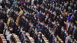 5月21日,中国人民政治协商会议第十三届全国委员会第三次会议在北京人民大会堂开幕。 新华社记者 殷博古 摄