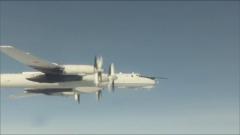 俄两架远程反潜机在太平洋水域巡航