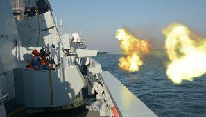 北部战区海军某基地护卫舰支队组织舰艇海上攻防训练