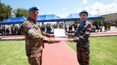 中国赴黎维和女军官首获联合国军事性别平等倡导人荣誉