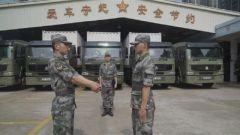 """驻香港部队""""模范汽车连""""安全行车千万里"""