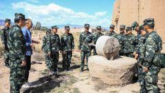 武警甘肃省总队赴西路军战斗遗址开展教育活动