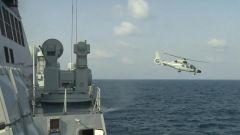 【直擊演訓場】黃海海域 艦機協同深海反潛訓練