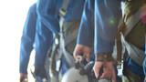 飛行學員整裝待發。攝影:劉萬立