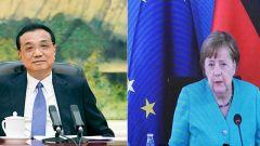 李克强同德国总理默克尔举行视频会晤时强调 中德中欧加强开放合作符合彼此共同利益 可以实现互利双赢多赢