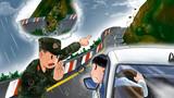 駕車時遇到塌方或山體滑坡,應立即掉頭轉移至安全地帶。