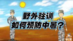 军旅动漫《野外驻训 预防中暑》