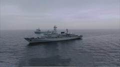 海军某训练舰支队组织编队海上训练