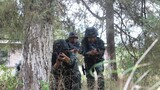 预备特战队员在进行小队协同战术训练