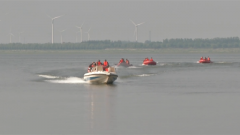 山東萊西:緊盯防汛 民兵開展水上應急演練