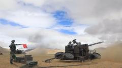 西藏:海拔4600米 防空火力分隊開展實彈射擊演練
