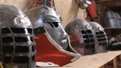 造型獨特 全甲格斗制甲師改裝明代鎧甲