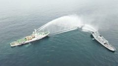 【海上72小时立体联合搜救演练】直升机海空搜救 转移落水人员