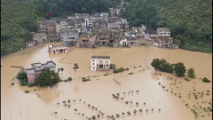 贵州惠水:洪灾严重 武警黔南支队官兵星夜驰援
