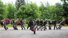 陆军第75集团军驻滇某旅开展步兵班战术考核