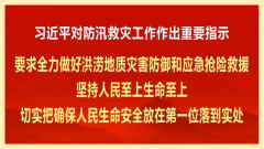 习近平对防汛救灾工作作出重要指示:切实把确保人民生命安全放在第一位落到实处