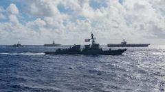 美军时隔一周又在西太上演双航母演练
