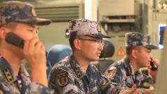 中国海军第35批护航编队组织多课目实战化训练