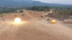 陆军第82集团军某合成旅组织合成营开展实弹战术演练