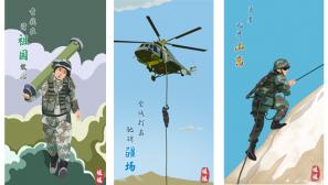 手繪壁紙 | 解放軍野外駐訓,炫酷壁紙拿走不謝!