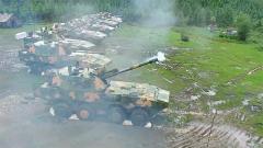 【第一军视】前方高能!直击轮式火炮全天候实弹射击演练