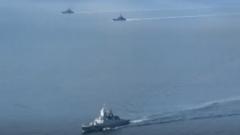 俄北方舰队举行多兵种协同演习