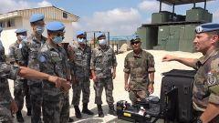 黎巴嫩:中法赴黎维和官兵交流扫雷排爆经验