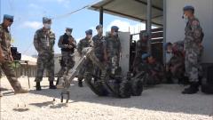 黎巴嫩:中法维和官兵交流扫雷排爆经验