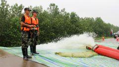 湖北石首:强降雨致千余头麋鹿被困 武警专业救援力量火速驰援