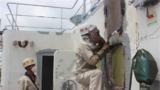 露天甲板钢板补焊作业