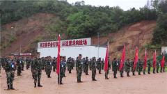 武警西双版纳支队:群众性练兵比武雨中激情开战