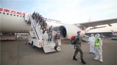 中国第18批赴黎维和部队第一梯队回国