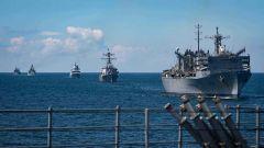 美国为何带八国军舰闯俄实弹演习区? 专家:验证联合作战新模式