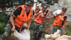 【抢险救灾 子弟兵在行动】安徽铜陵:武警紧急出动排除管涌险情