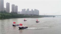 山西太原:军地联合组织抗洪抢险综合演练