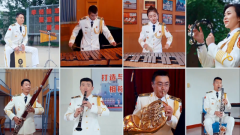 """【我的八一】太美了!海军军乐团""""云""""演奏《我爱这蓝色的海洋》"""