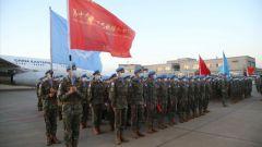 """中国第19批赴黎维和部队出征 6名女扫雷作业手1人是""""00""""后"""