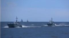 俄海军在波罗的海举行军演